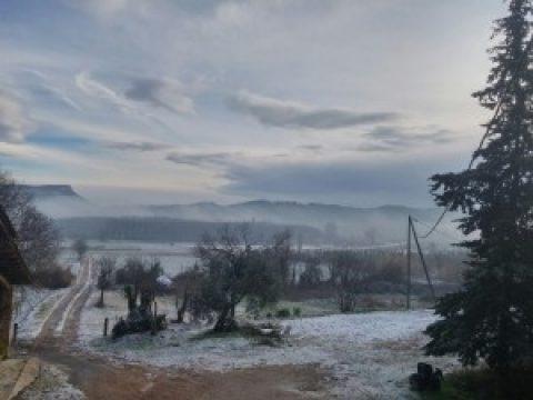 Un poco de nieve en Can Clos