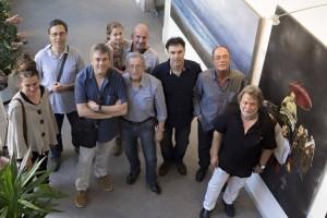 Inauguración exposición colectiva en el claustre de la Diputació de Girona.