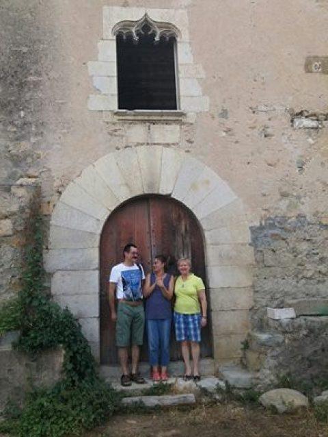 Visita de miembros de la asociación Krakus a Can Clos.